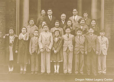 Group portrait from a Japanese school in Portland