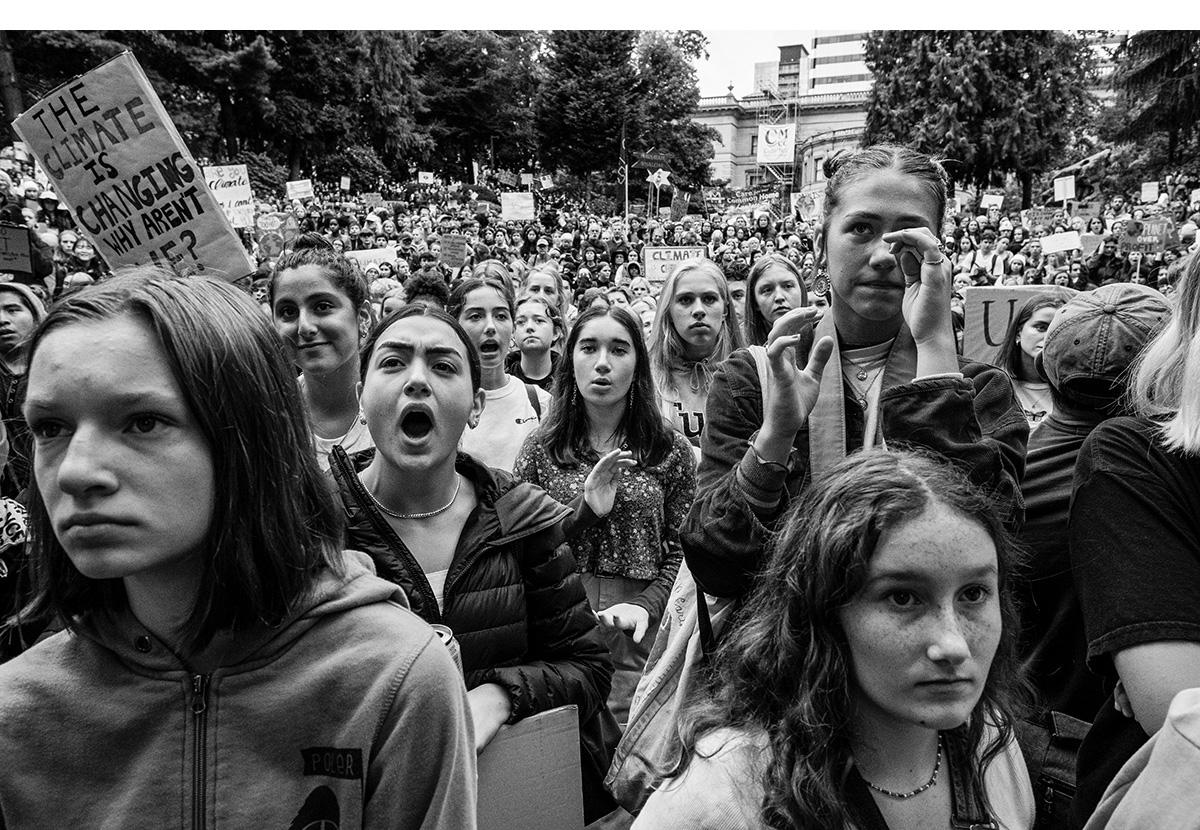 Crowd at Portland Climate Strike