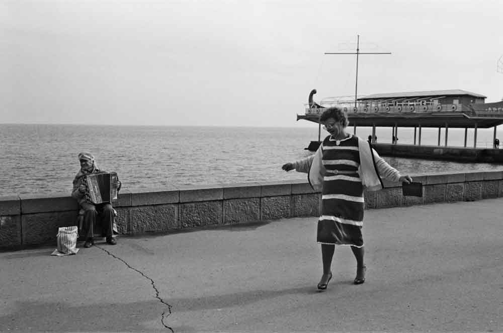 """This photo from Ukraine is from """"Music on the Road,"""" a photography collection by Vassilis Koltoukis featuring street musicians from dozens of countries."""