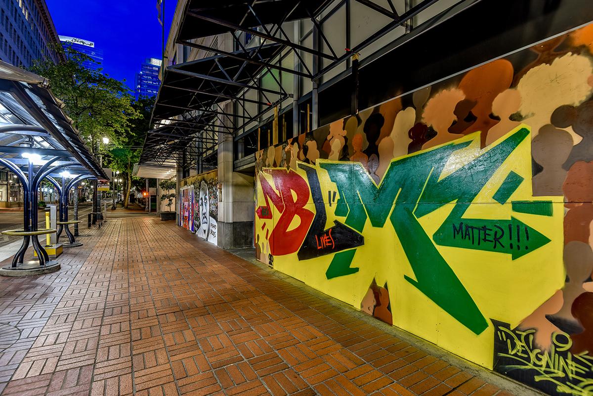 A mural celebrates Black Lives Matter