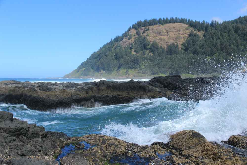 Thor's Well in Cape Perpetua State Park