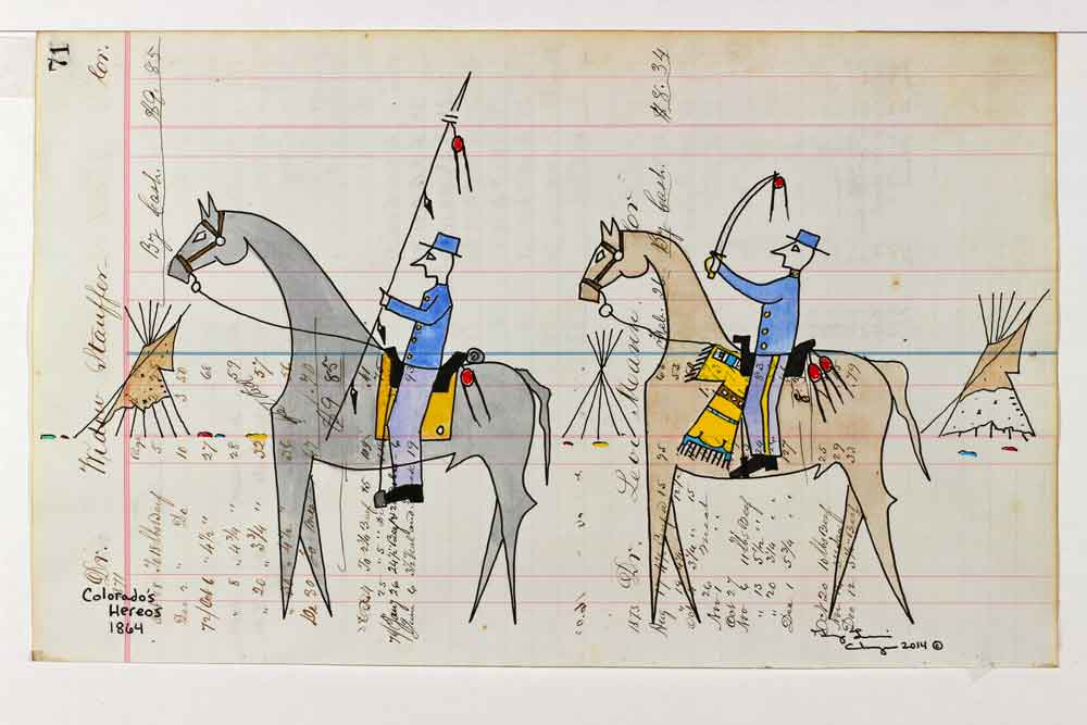 George Curtis Levi ledger art