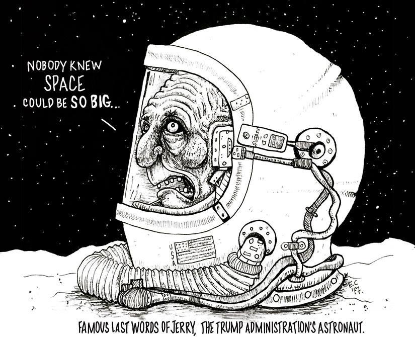Sheeptoast: Trump astronaut