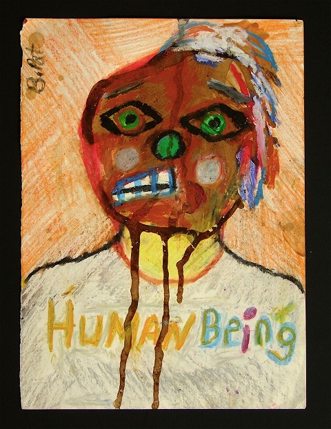 "B. Pat's ""Human Being"" painting"
