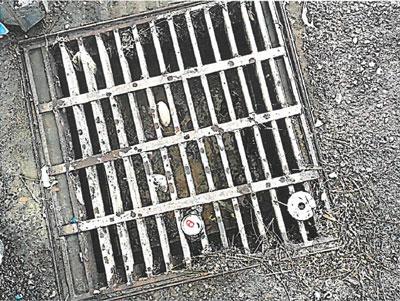 Debris in catch basin