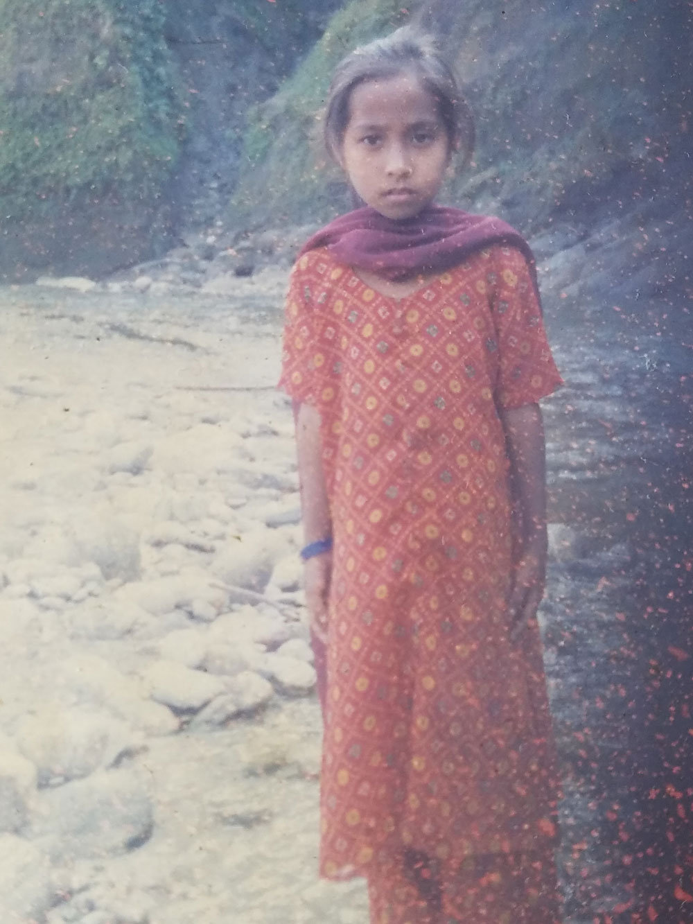 Sumitra Chhetri as a child