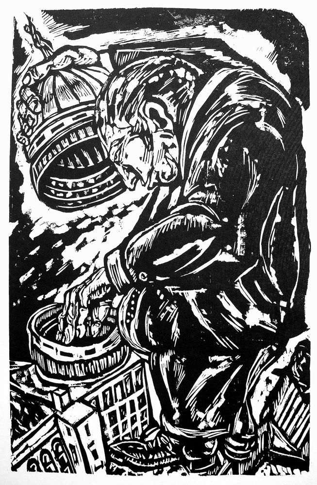 Illustration: Reaching into U.S. Capitol cookie jar