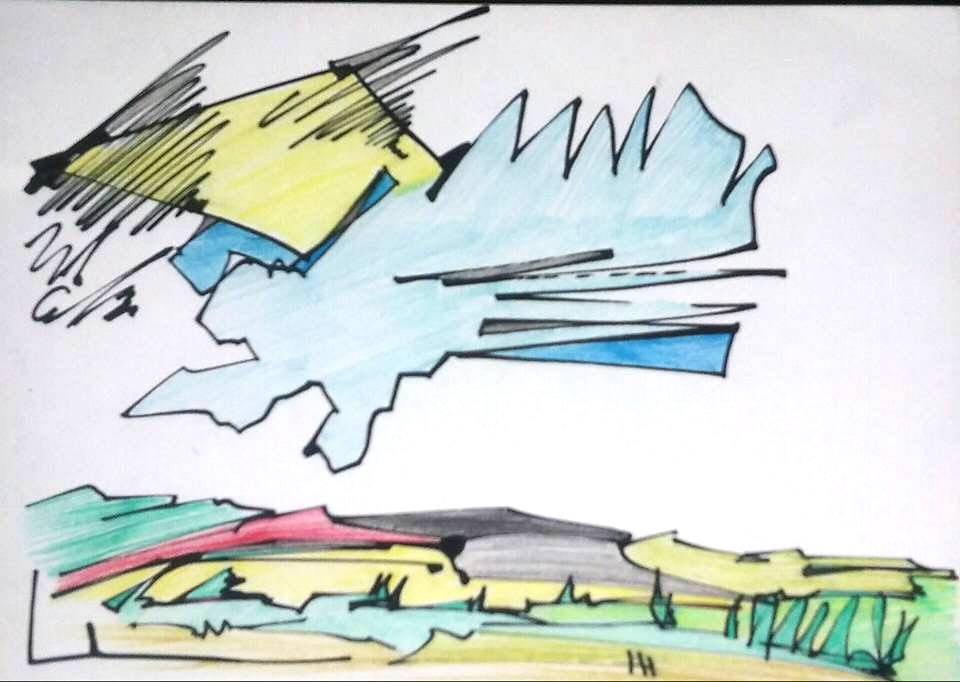 "Dale Washington's ""Sunset: Farm Series"""