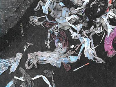 Debris from Rivergate Pump Station