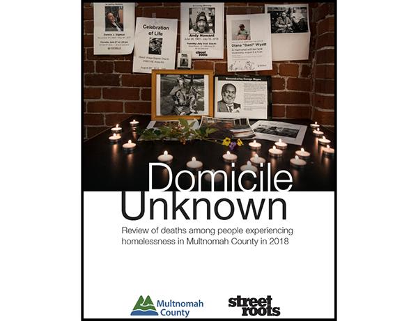 Cover of the 2018 Domicile Unknown report