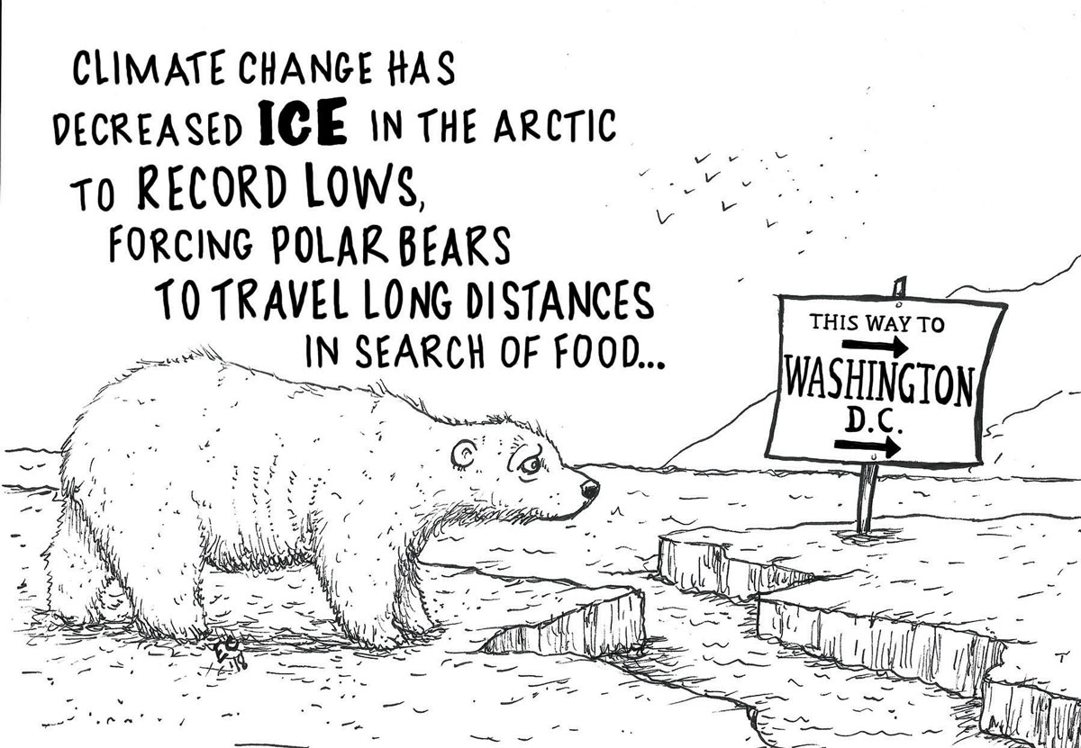 Sheeptoast editorial cartoon: Polar Problems