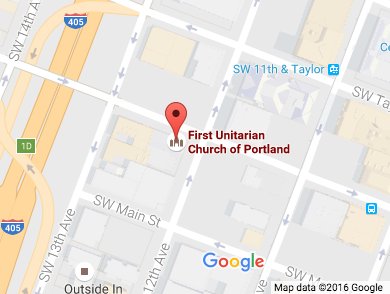 Google map of First Unitarian Church of Portland