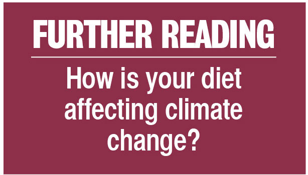 Further reading: How is your diet affecting climate change?