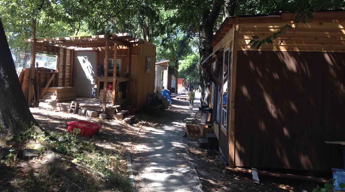 Hazelnut Grove homeless village