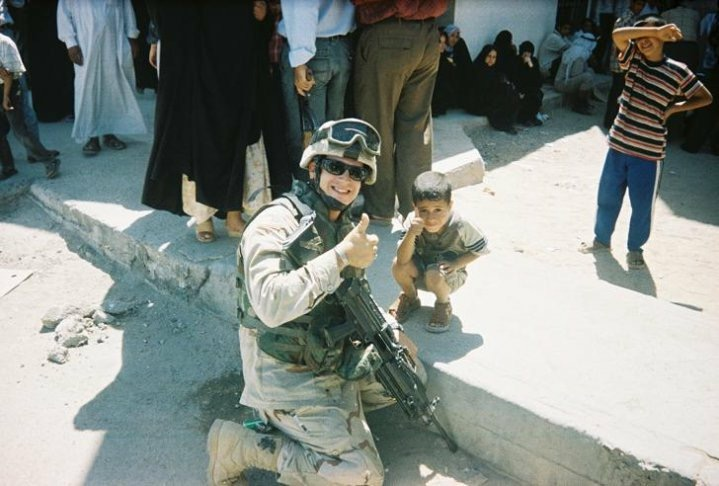 Kevin Pannell in Baghdad