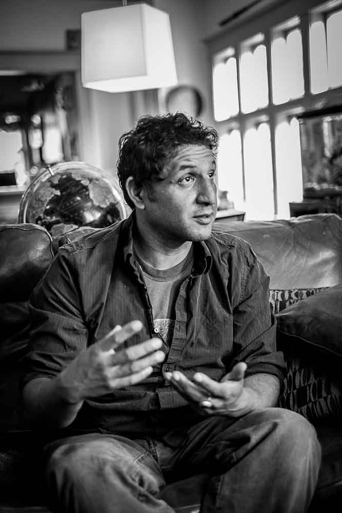 Jesse Sandoval, former drummer of The Shins and proprietor of Los Roast, talks with Street Roots at his Portland home.