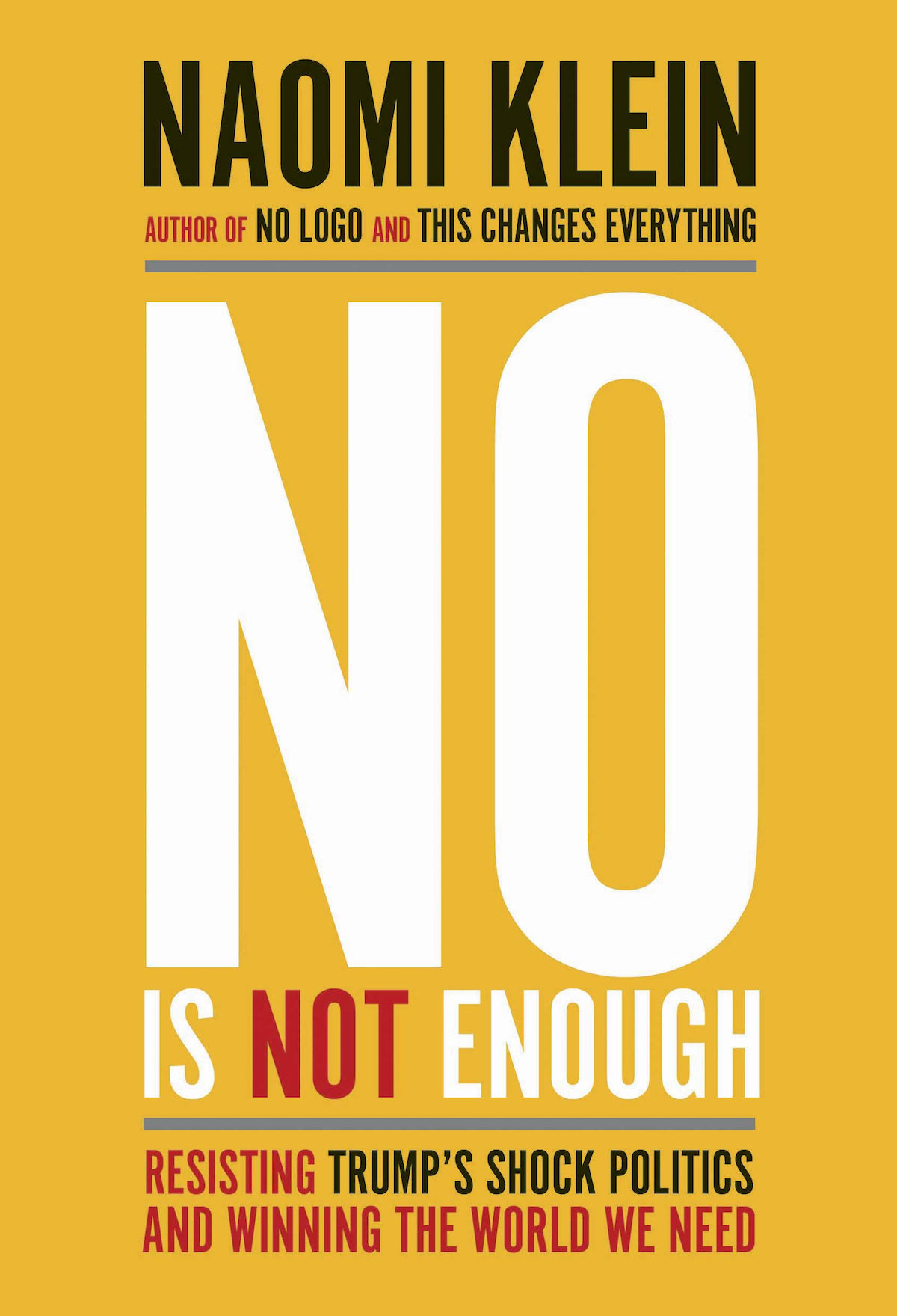 'No Is Not Enough' book cover