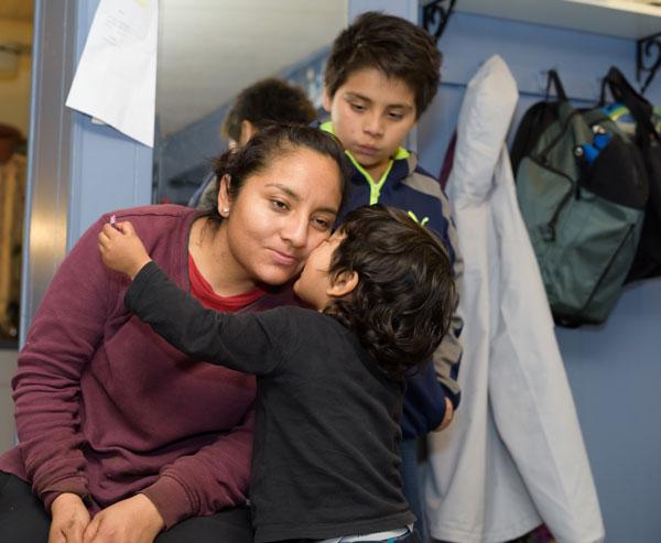 Margarita Reyes Pacheco and children