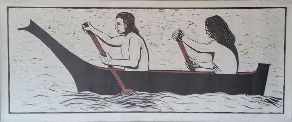 """""""The Salish Canoe"""" by Mary Pacios"""