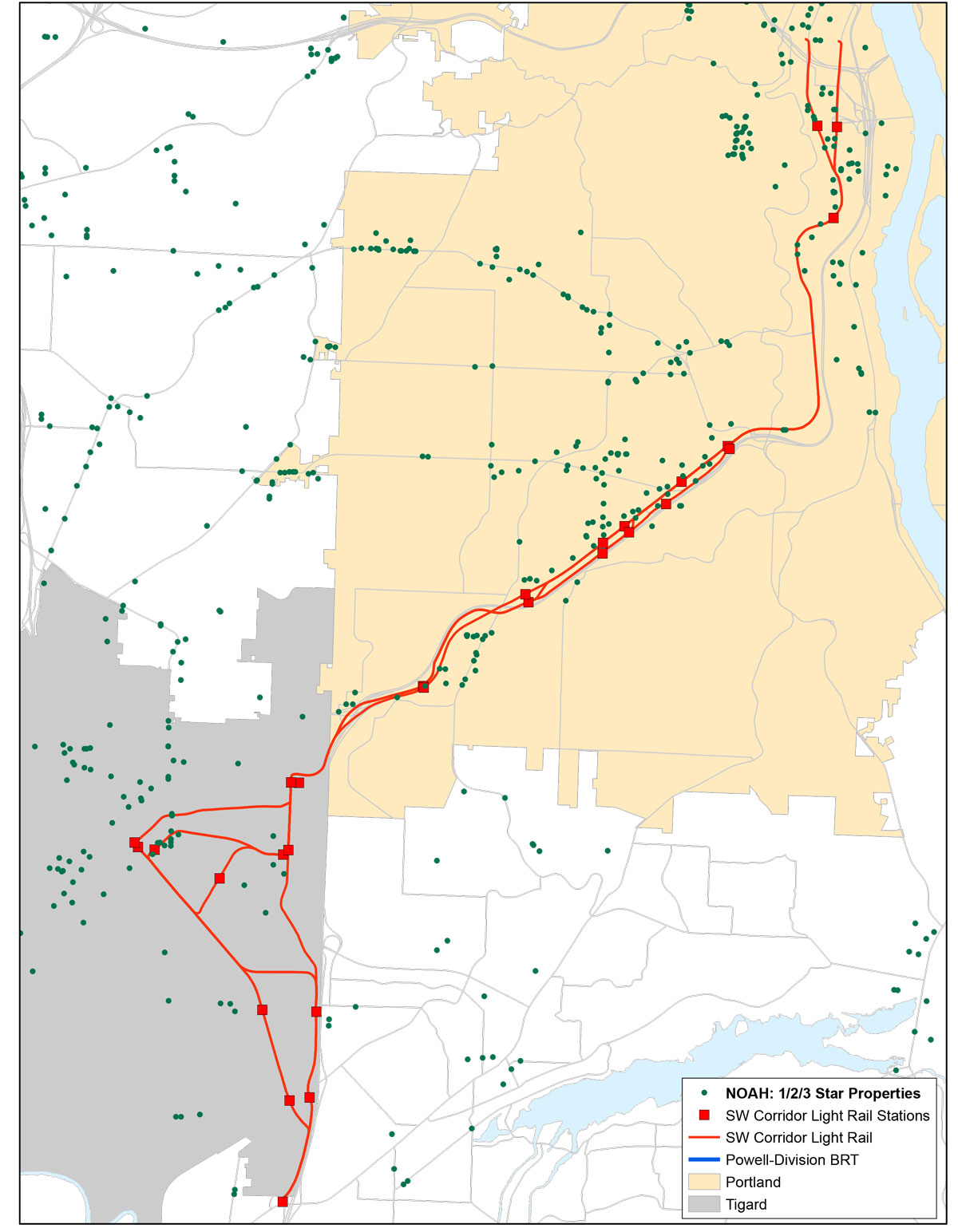 proposed Southwest Corridor MAX line