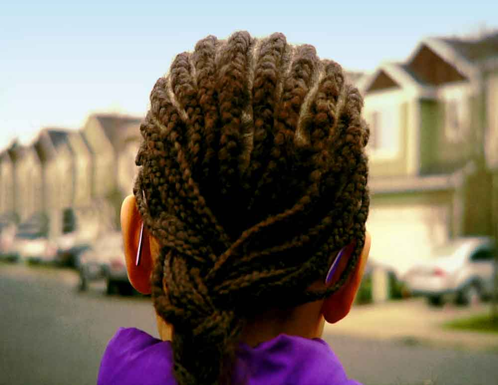 """A poster image from Melissa Lowery's film """"Black Girl in Suburbia"""""""