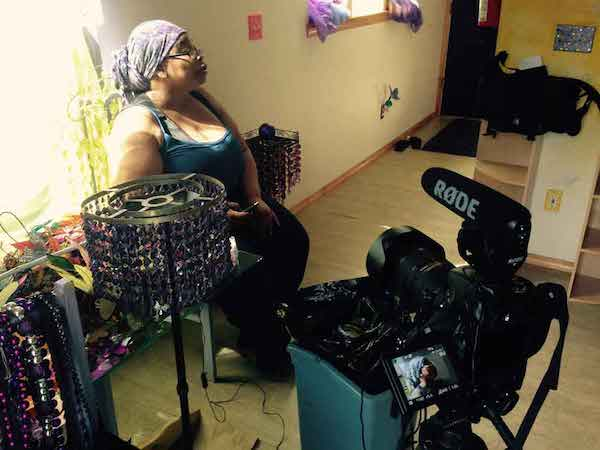 "Nikki Williams is filmed during production of ""Priced Out"""