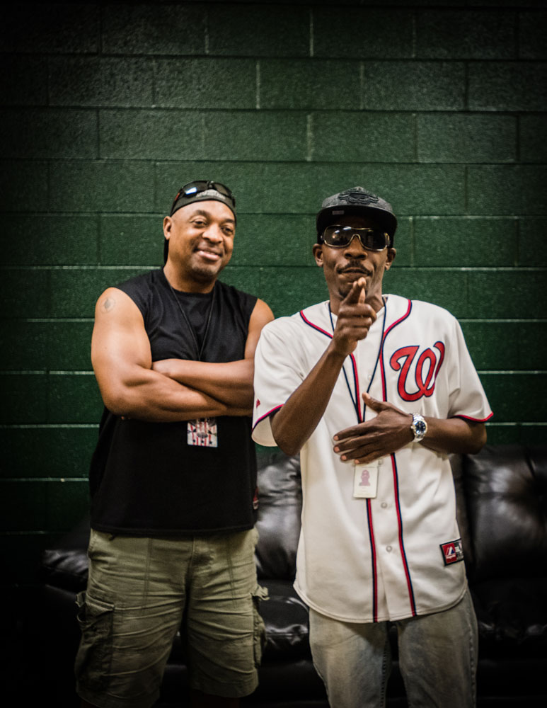 Ronald Dudley and Chuck D.