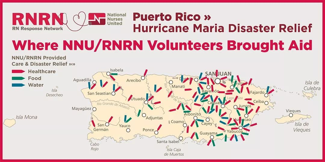 RN Response Network map of Puerto Rico