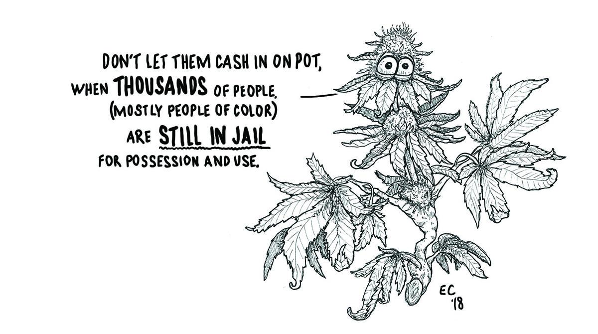 Sheeptoast editorial cartoon: Cannabis Capitalism