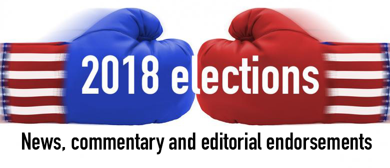 2018 elections logo: Link to news, commentary and editorial endorsements