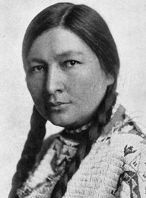 Portrait of  Native American activist and writer Zitkála-Šá.