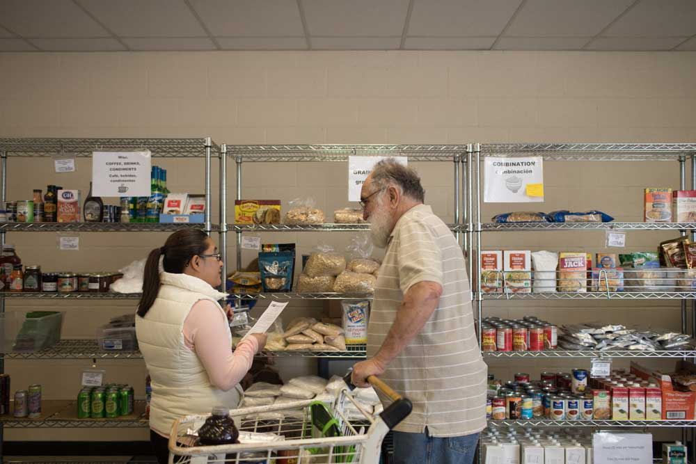 Jim at Junction City Local Aid's food pantry