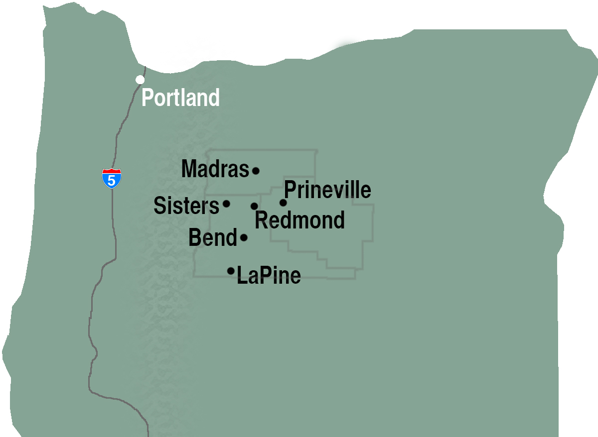 Oregon Map: Central Oregon
