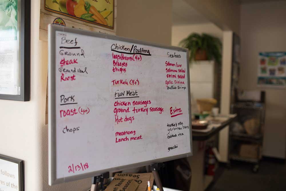 Meat options at Junction City food pantry