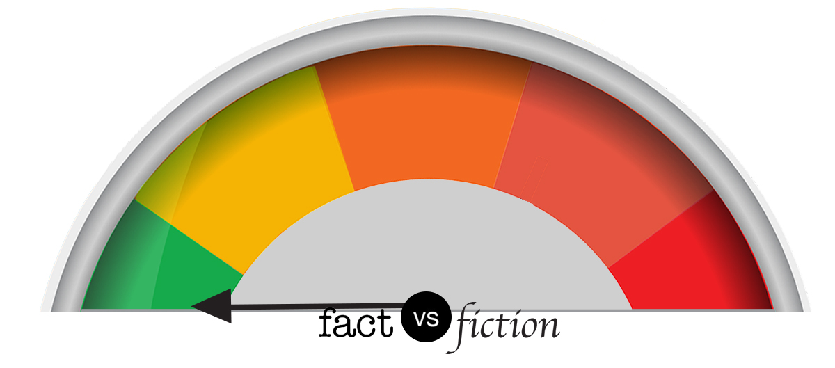 Fact vs. fiction meter: Fact