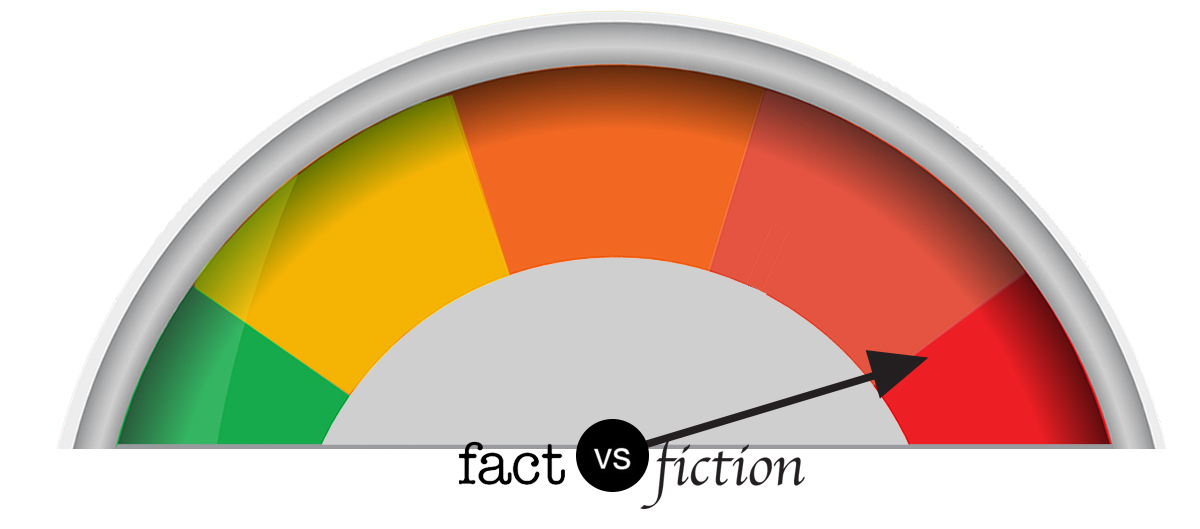 Fact vs. fiction meter: Mostly fiction