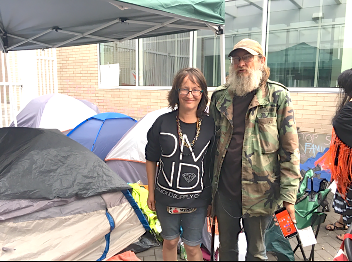 Street Roots' vendors at OccupyICEPDX