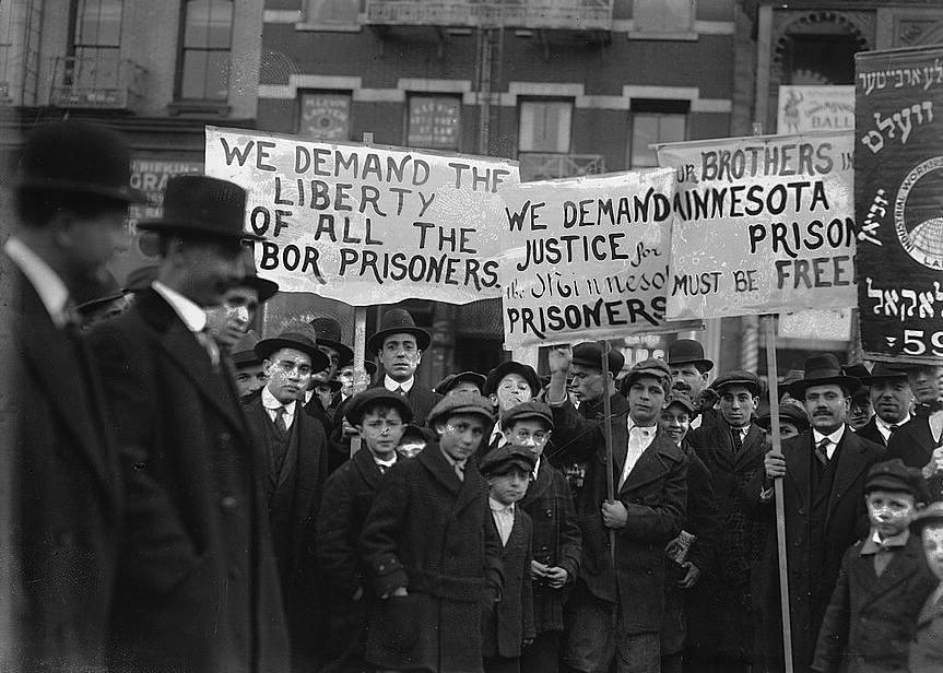 Labor sympathy parade