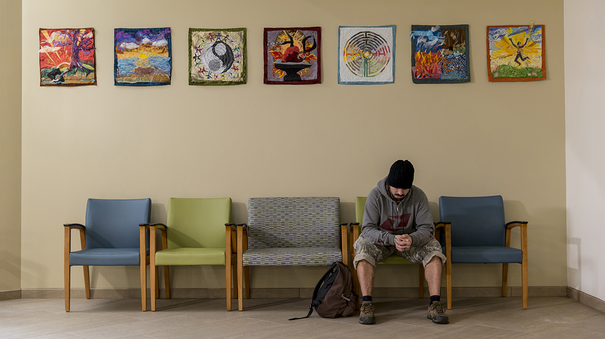 Man in the waiting room