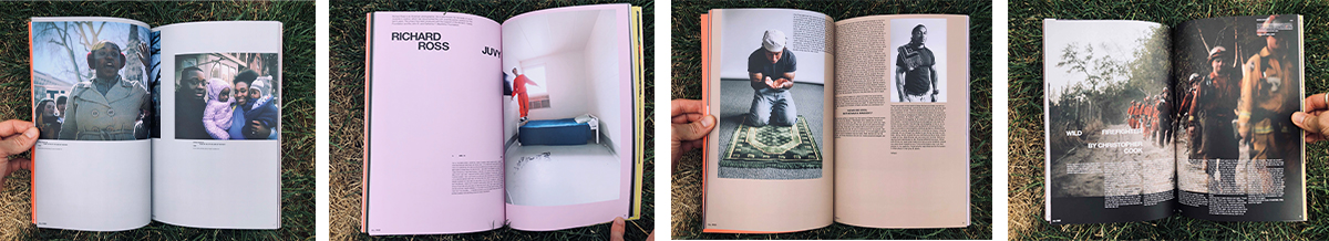 A series of four photos of inside pages