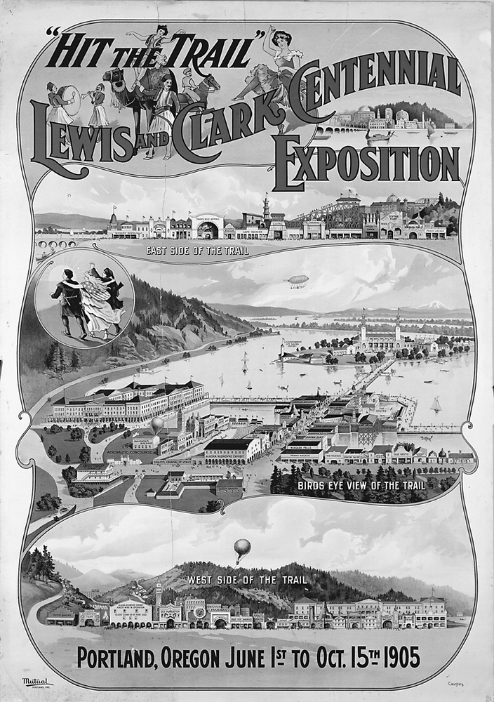 A historical flier advertising the Lewis and Clark Exposition