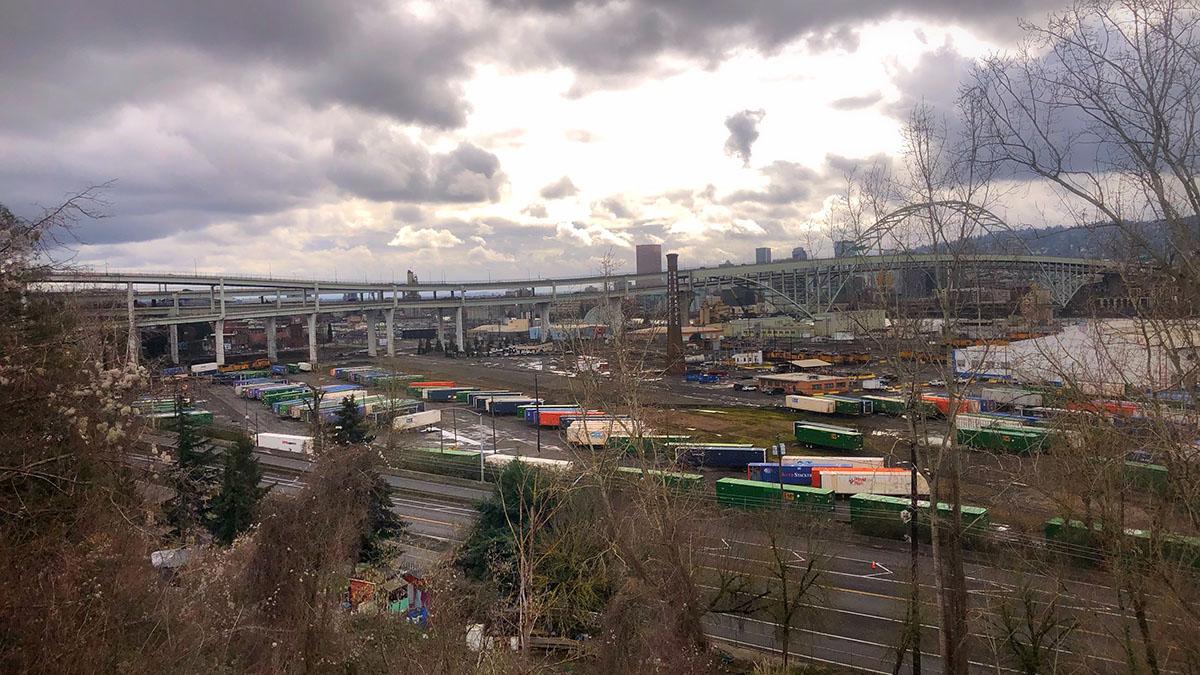 Landscape view of Portland's Overlook neighborhood