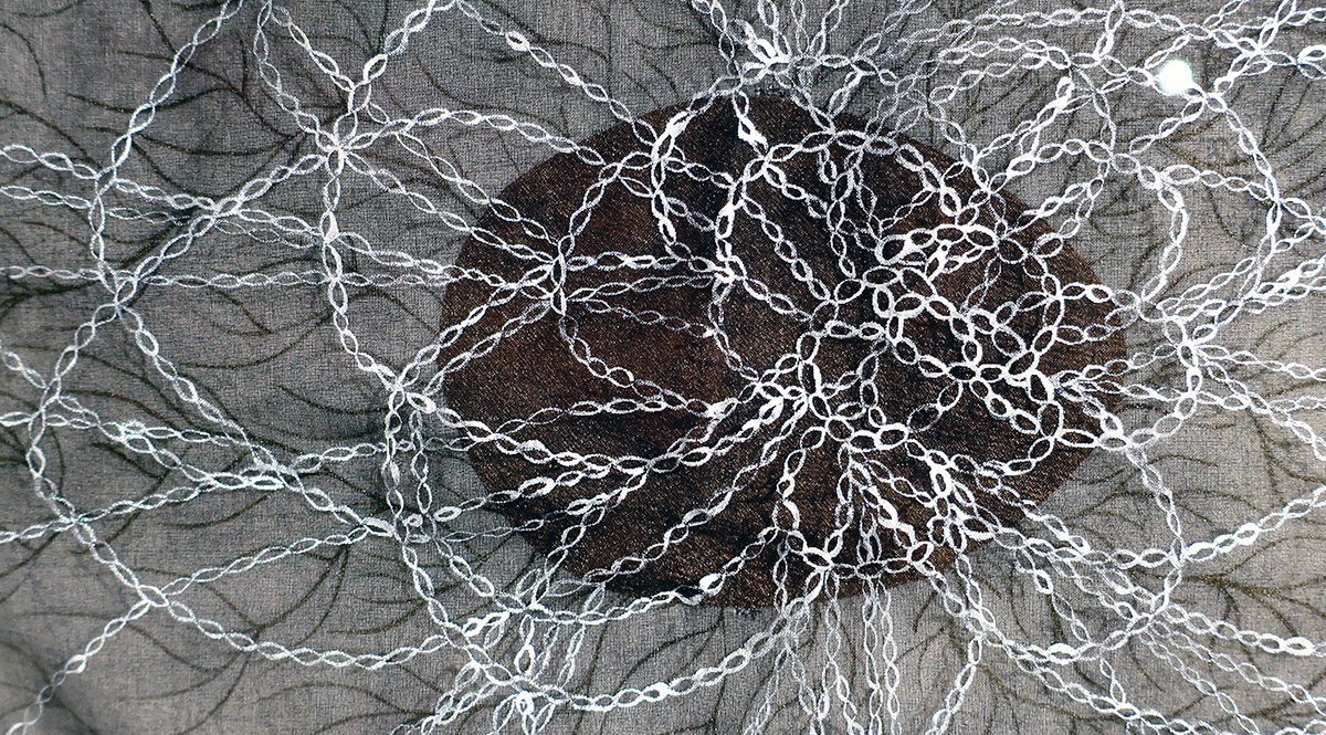 Detail from a woven piece created by Dana Lynn Louis