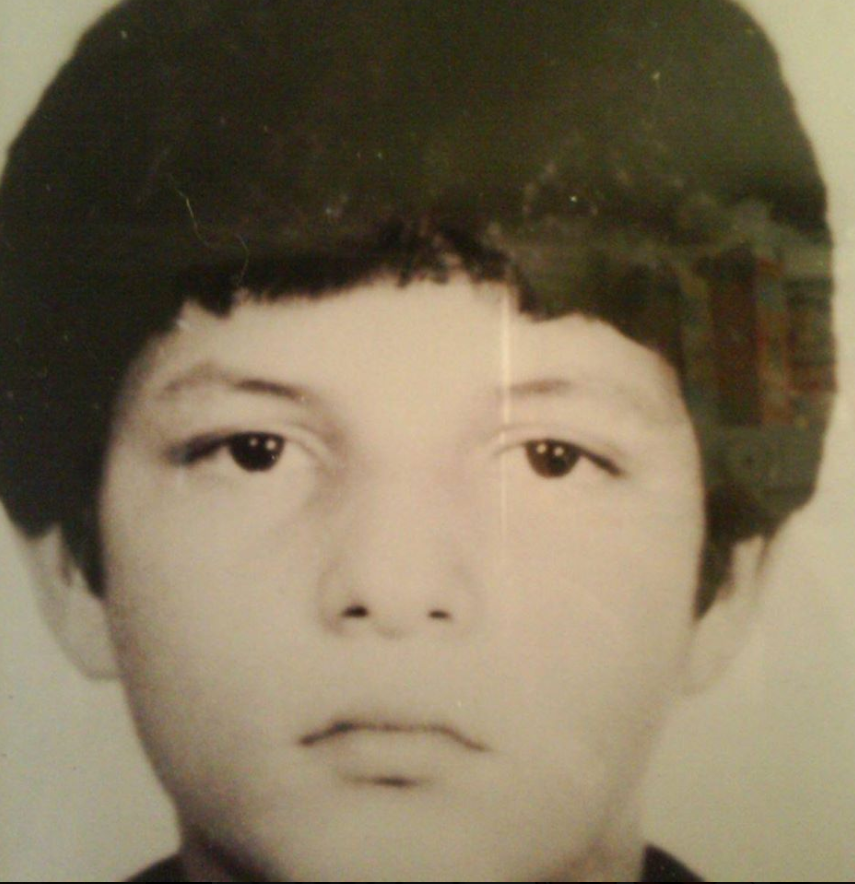 Enrique as a child