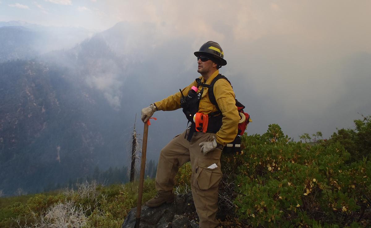 Frank Lake in firefighting gear