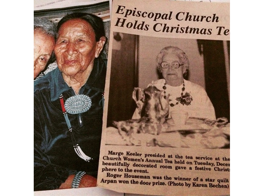 Photograph and a newspaper clipping