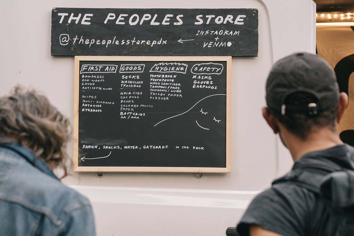 The People's Store menu