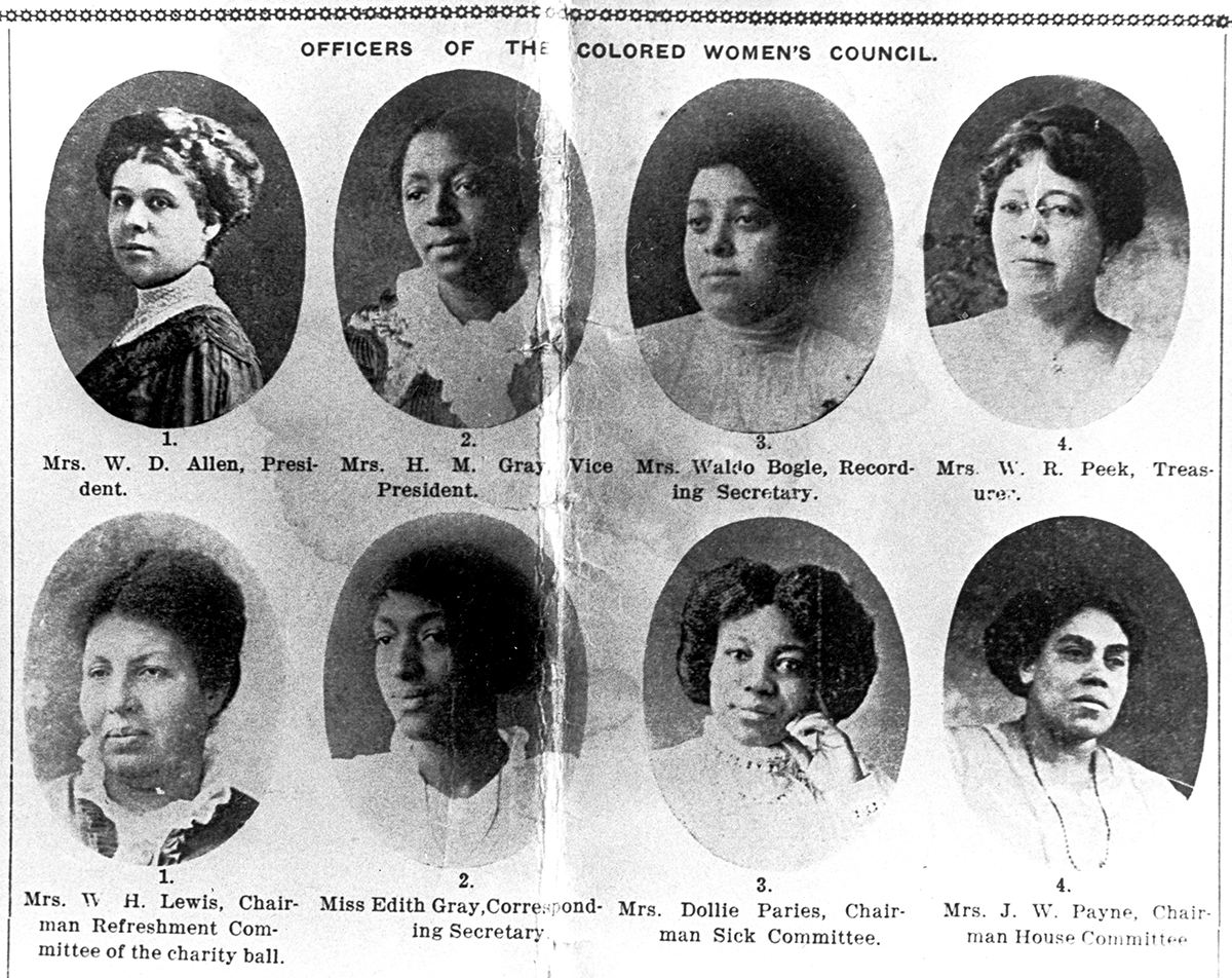 Officers of the Oregon Colored Women's Council