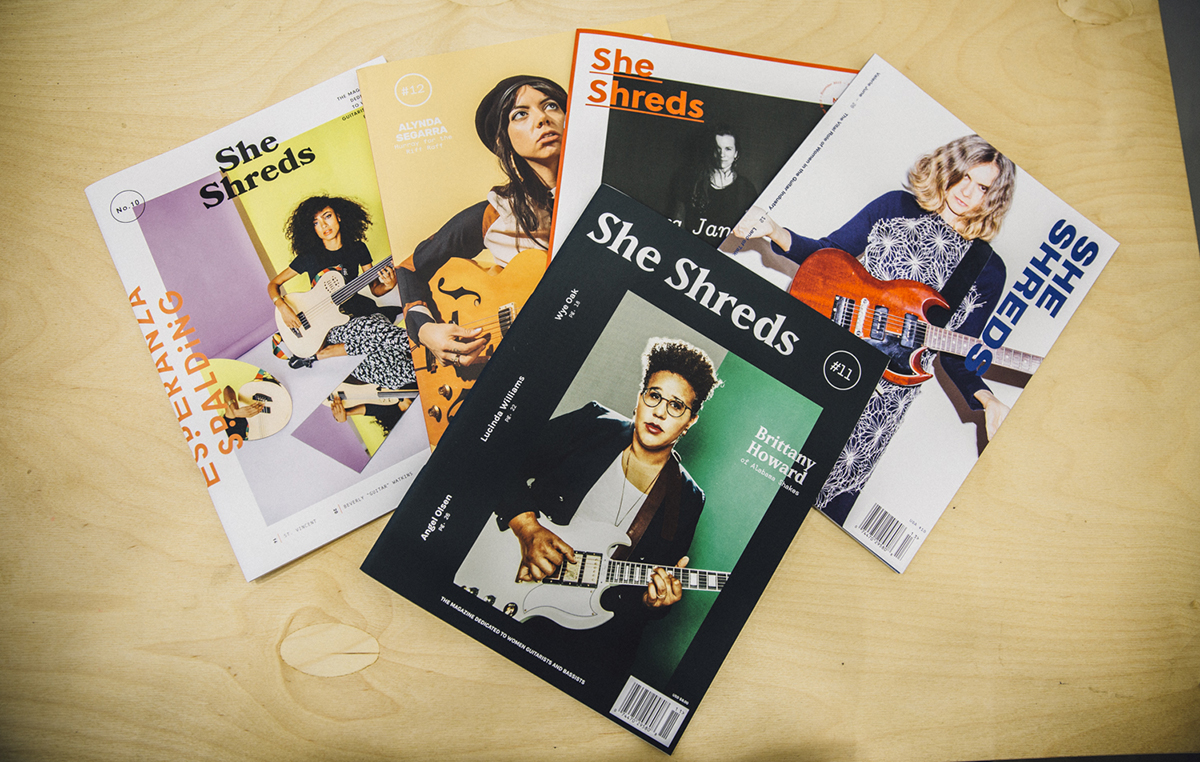 She Shreds magazine covers