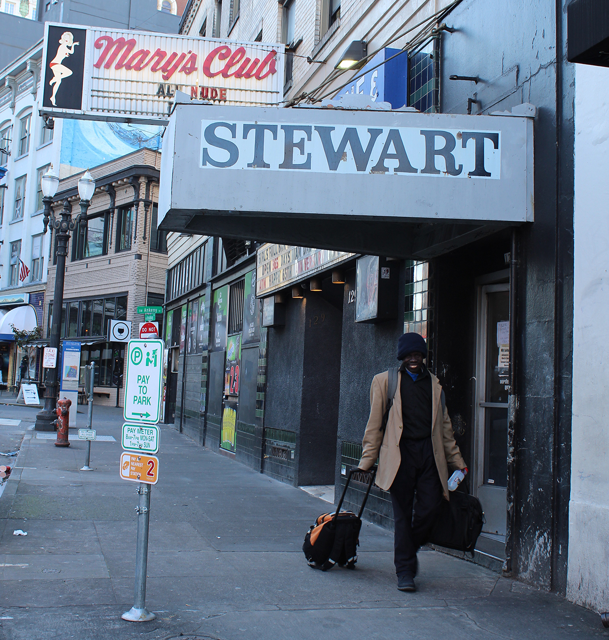 Exterior of the Stewart Hotel